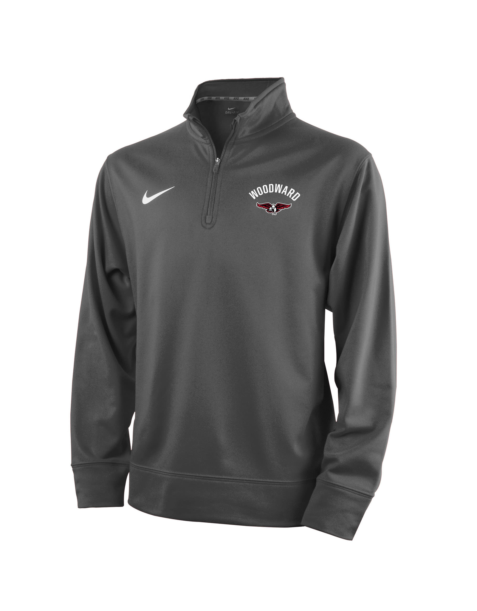 NIKE Youth Therma 1/4 Zip Pullover in Anthracite
