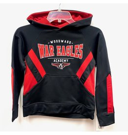 Holloway Youth Hooded Sweatshirt in Black/Red