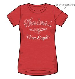 Ouray Ladies Vintage Relaxed SS Tee in Red