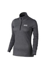 NIKE Ladies Azalea LS 1/2 Zip Pullover in Black Heather