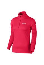 NIKE Ladies Azalea LS 1/2 Zip Pullover in Red Heather