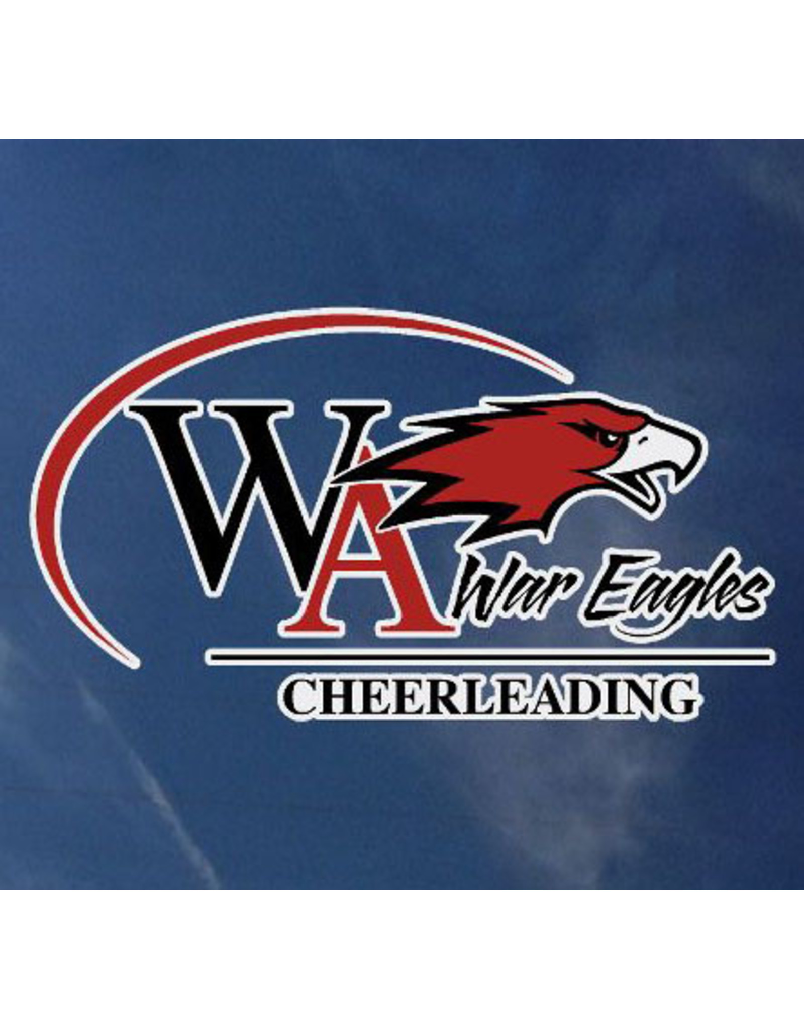 Color Shock Athletic Decal -  Cheerleading