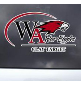 Color Shock Athletic Decal -  Clay Target