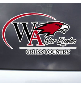 Color Shock Athletic Decal -  Cross Country