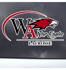 Color Shock Athletic Decal -  Lacrosse