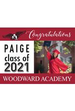 Custom Item Graduation 2021 Yard Sign w/ Name & Photo
