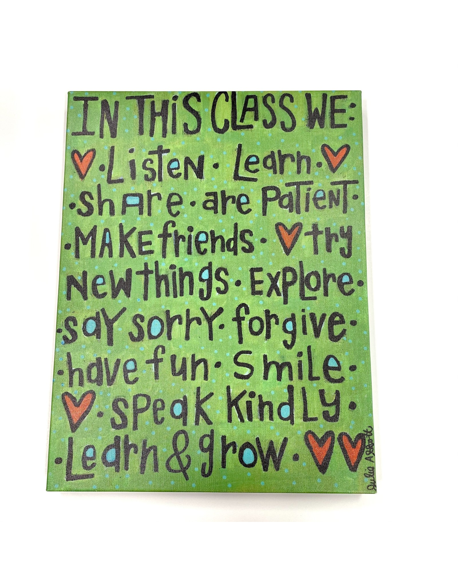 "Magnolia Lane Canvas ""In This Class"" by Magnolia Lane"