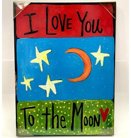 Magnolia Lane SALE CANVAS ML - LOVE YOU TO THE MOON
