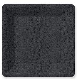 Design Design PLATE SQ DINNER PEBBLE BLACK