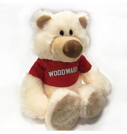 Mascot Factory PLUSH BEAR IGGY WITH RED T-SHIRT