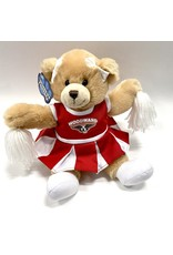 Mascot Factory PLUSH CARLY BEAR W/CHEER OUTFIT AND POMS