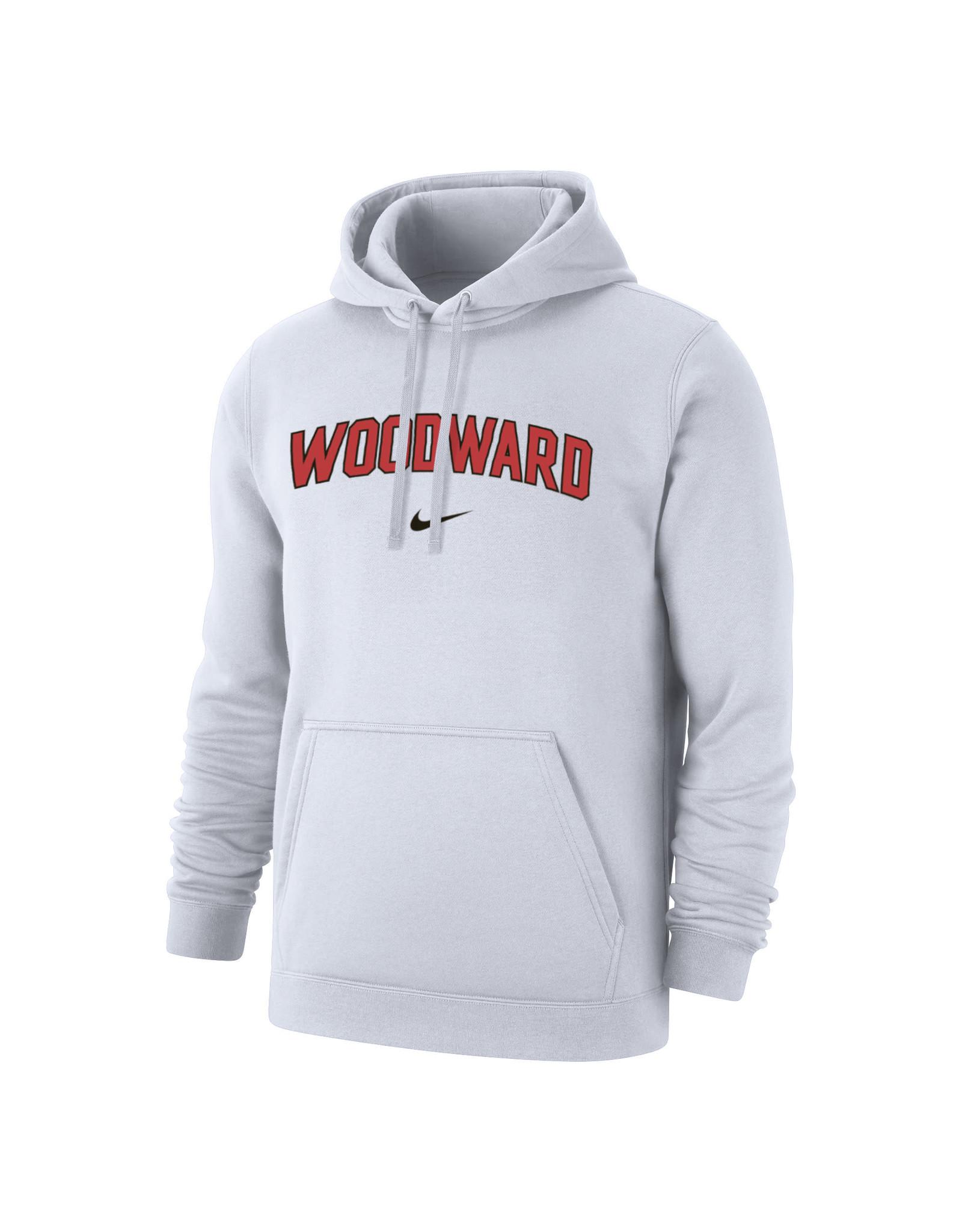 NIKE Club Fleece Hooded Sweatshirt in White