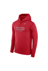 NIKE Reflective Therma PO Hooded Sweatshirt in Red