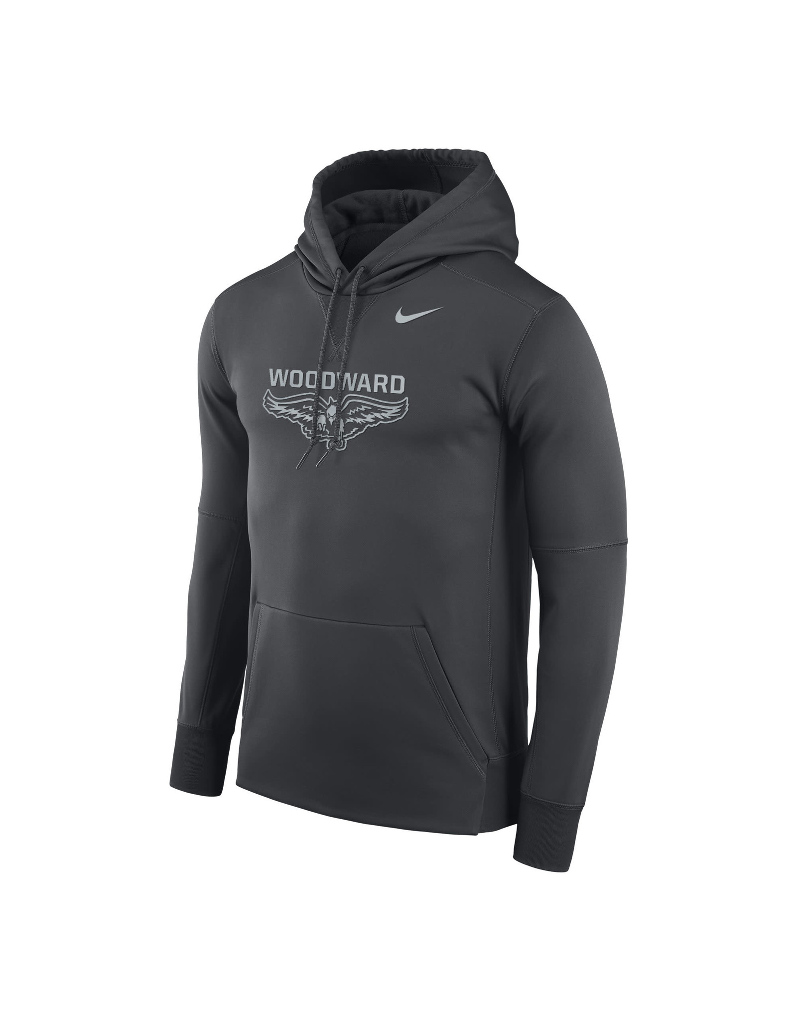 NIKE Reflective Therma PO Hooded Sweatshirt in Anthracite