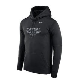 NIKE Reflective Therma PO Hooded Sweatshirt in Black