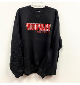Gear for Sports Woodward Big Cotton Crew in Black
