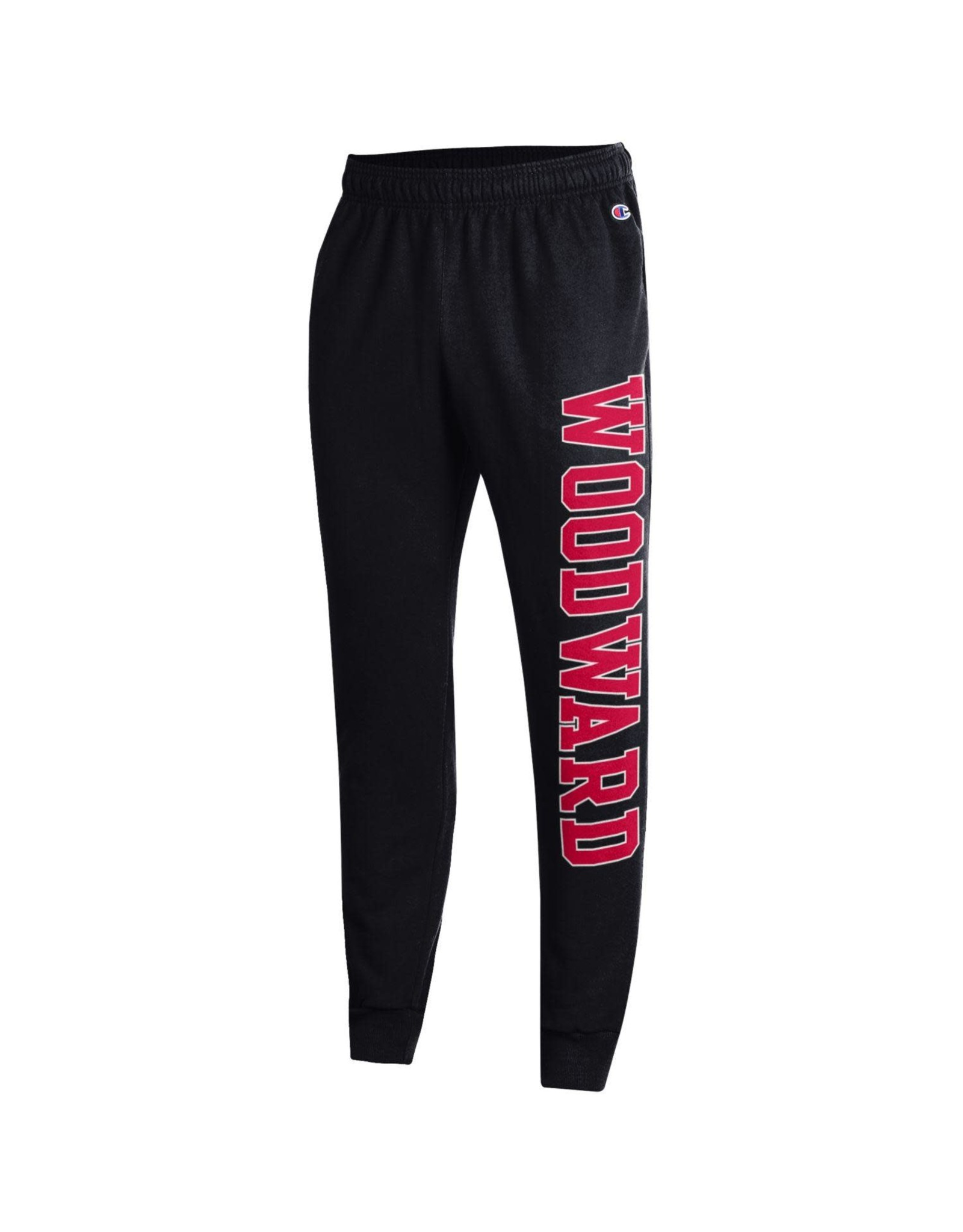 Champion Cuffed Jogger Sweatpants with Pockets in Black