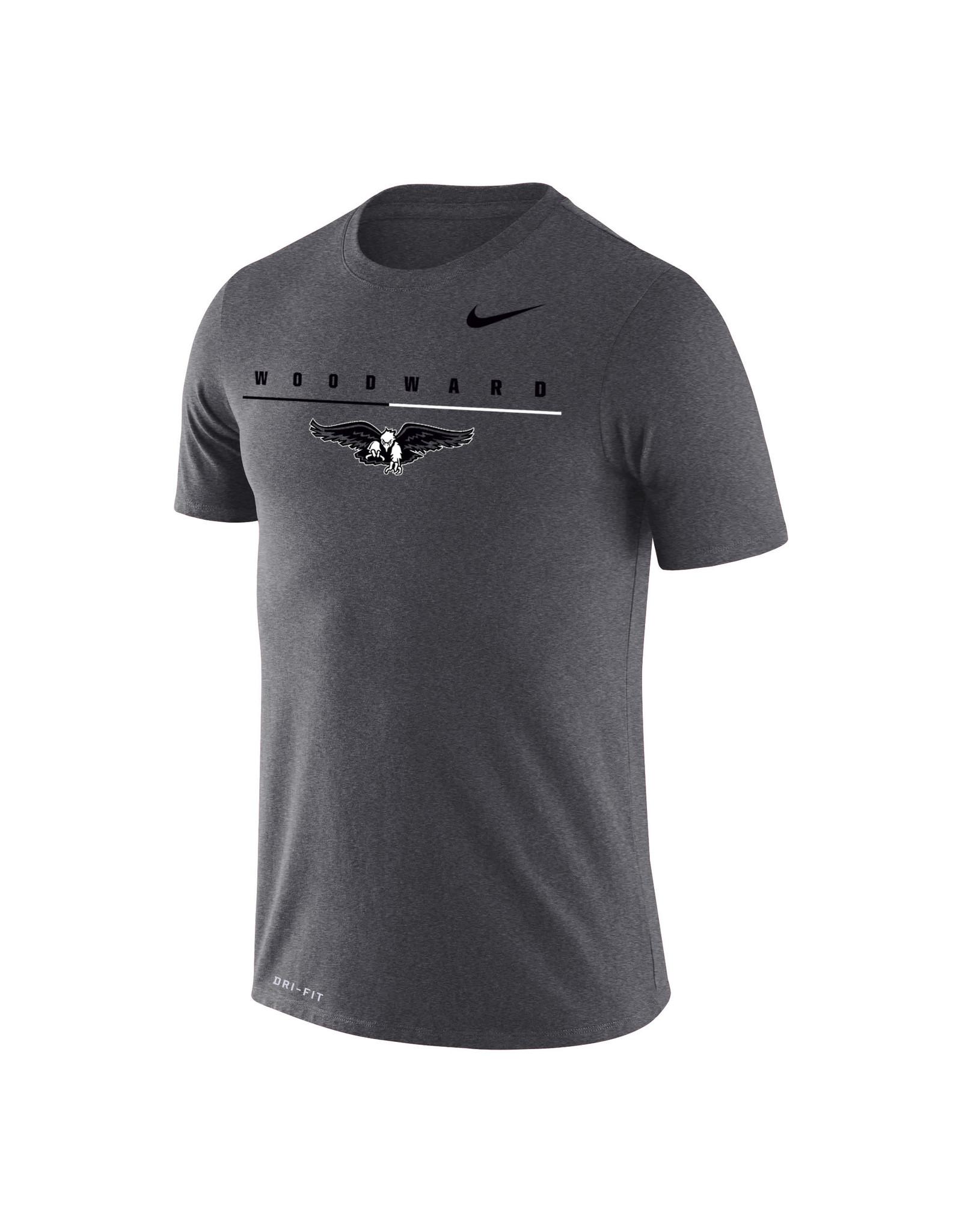 NIKE Legend Dri-Fit SS T Shirt in Charcoal Heather