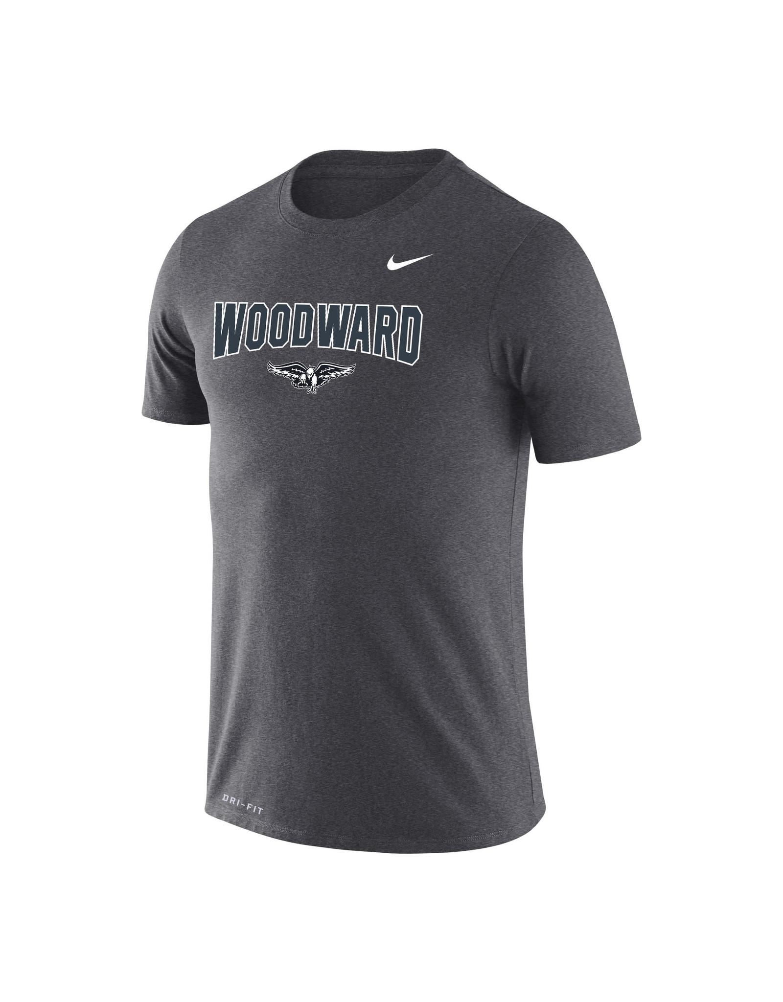 NIKE Legend Dri-Fit SS T Shirt in Dark Heather (2XL)