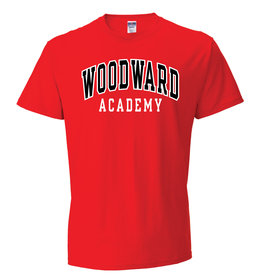 Russell Athletic Woodward Academy T Shirt in Red