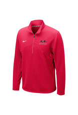 NIKE Dri-Fit Training 1/4 Zip Pullover in Red