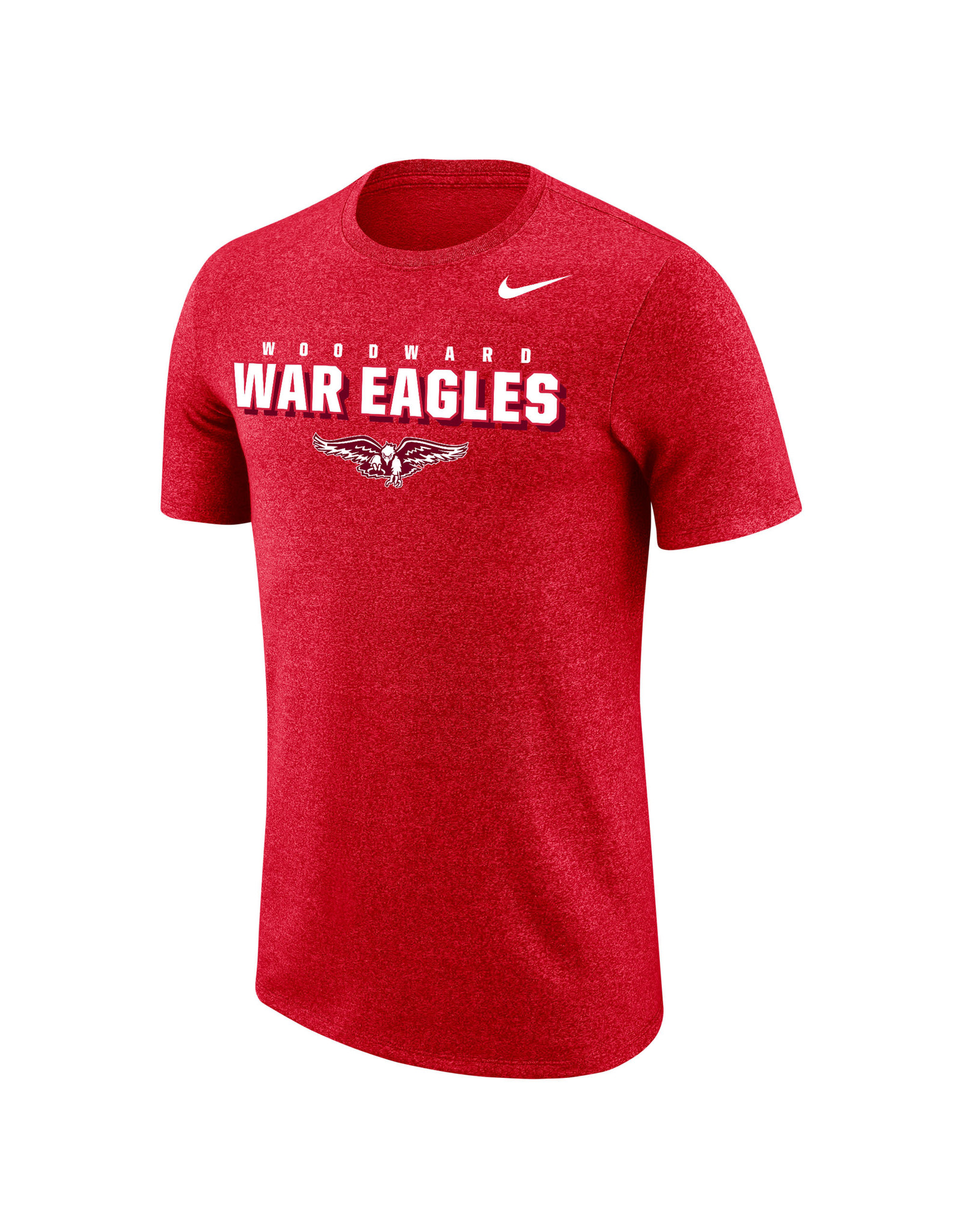NIKE Marled SS T Shirt in Red Heather