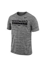 NIKE Velocity Legend SS T Shirt in Black Heather