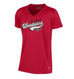 UnderArmour Youth Girls V-neck Tee