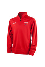 NIKE Youth Therma 1/4 Zip Pullover in Red