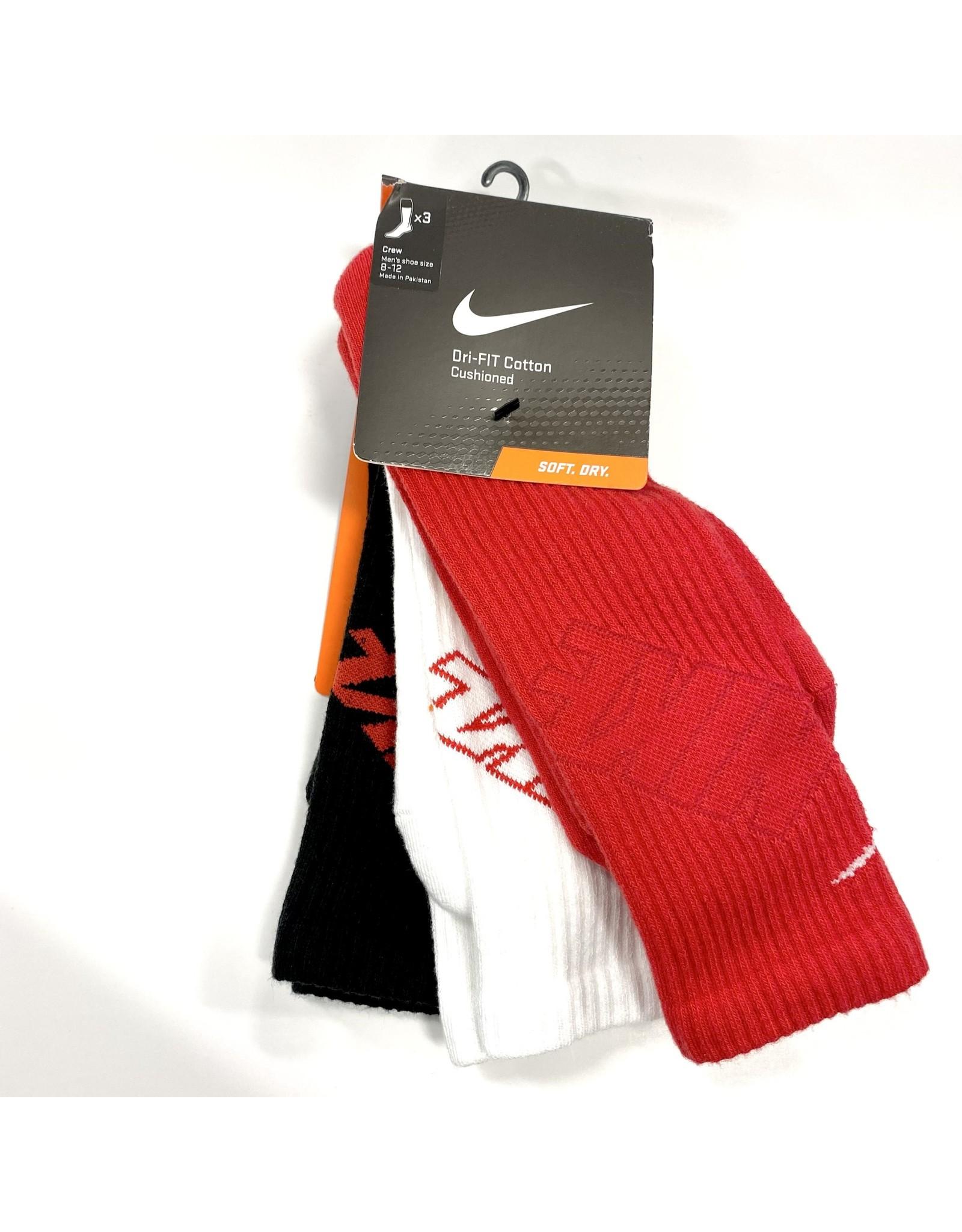 NIKE Socks 3-COLOR (3PK) in size LG