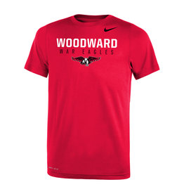 NIKE Youth Legend SS Tee in Red (WOODWARD)