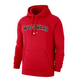 NIKE Club Fleece Hooded Sweatshirt in Red