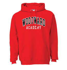 Russell Athletic Jerzees Hooded Sweatshirt in Red