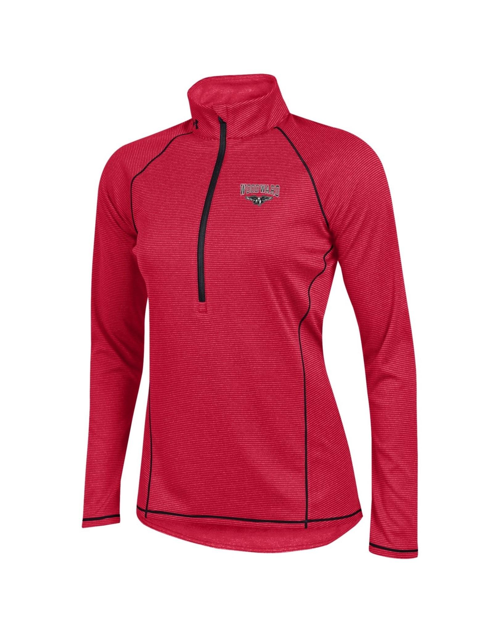 UnderArmour Ladies Red 1/2 Zip Pullover (LARGE)