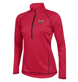UnderArmour Ladies Red 1/2 Zip Pullover