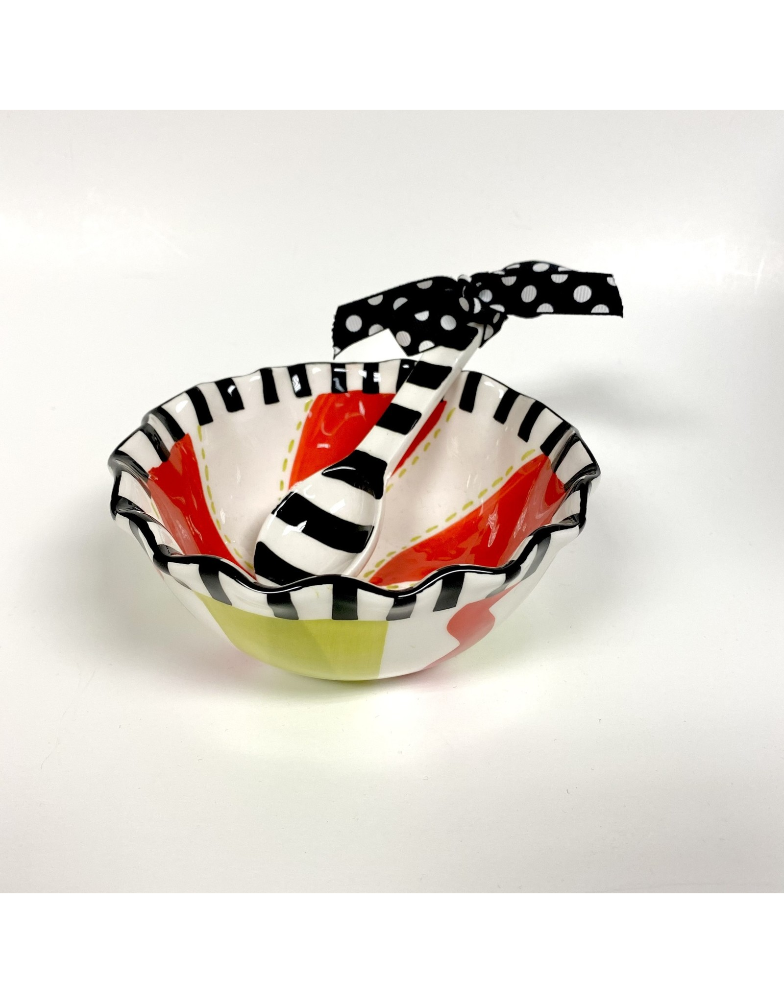 Mud Pie Holiday Ruffle Bowl with Scoop