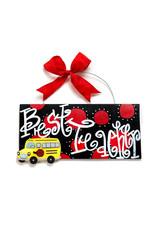 Handmade Vendor SALE Best Teacher Plaque