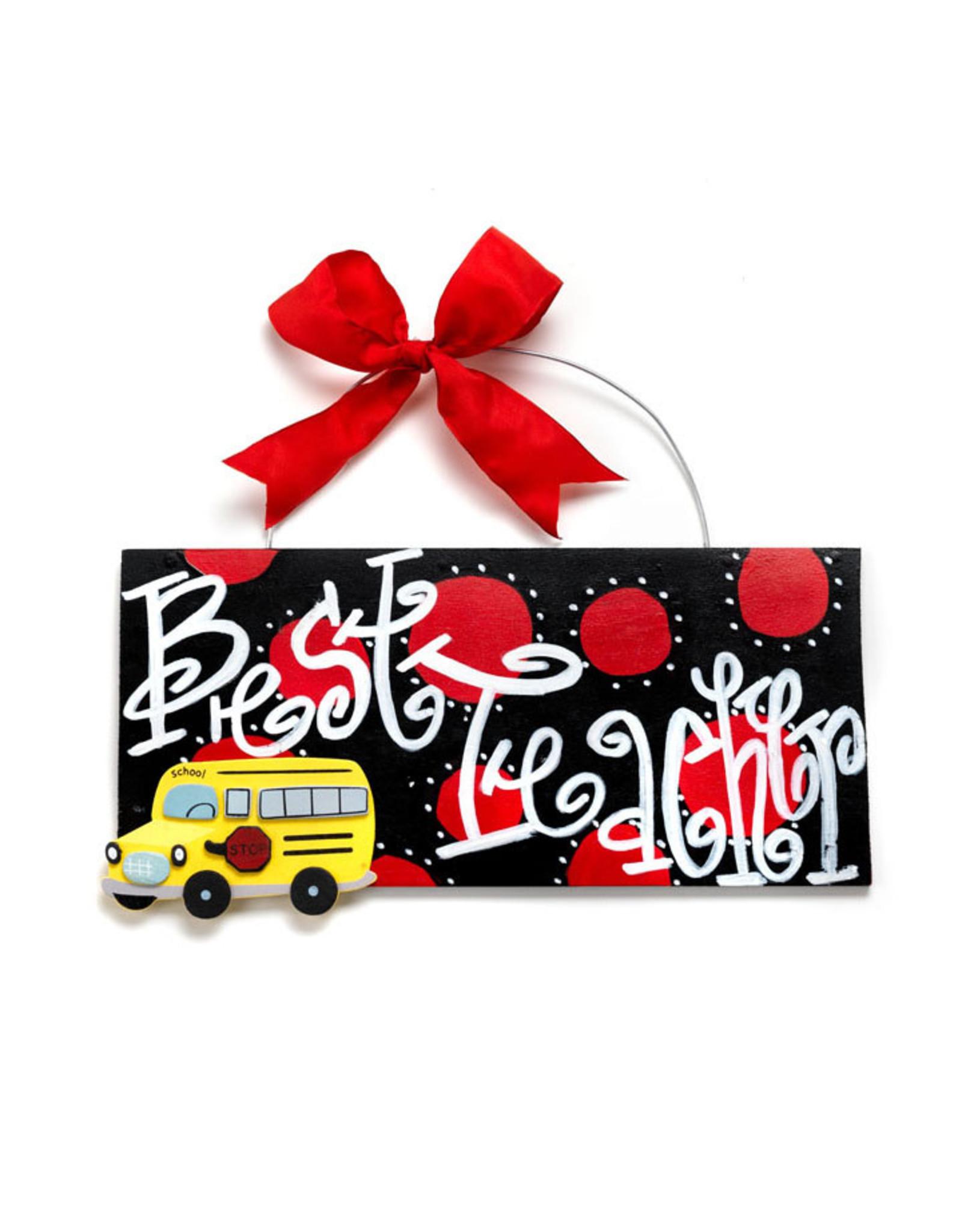 Handmade Vendor Best Teacher Plaque