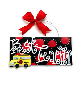 Handmade Vendor Best Teacher Plaque