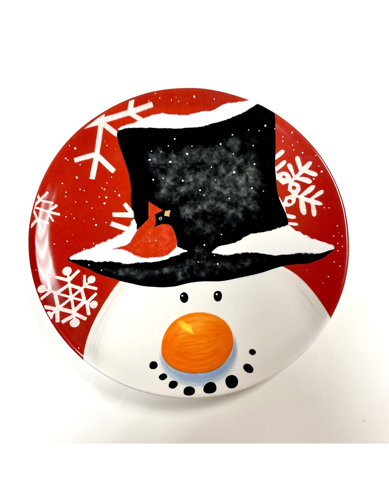 Small snowman plate