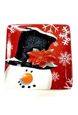 Certified International Plate Square CI Snowman