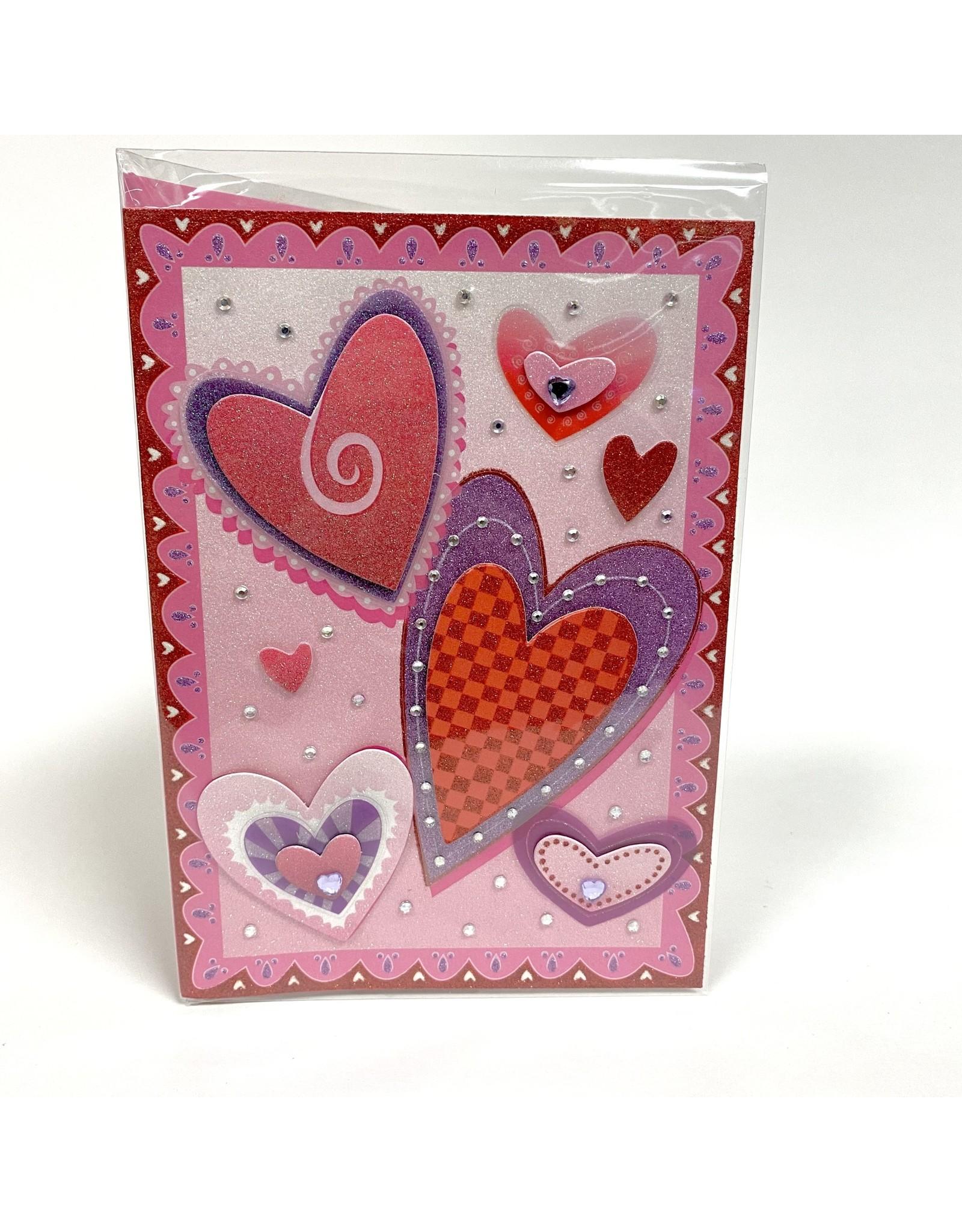 Design Design Greeting Card - Valentine Hearts