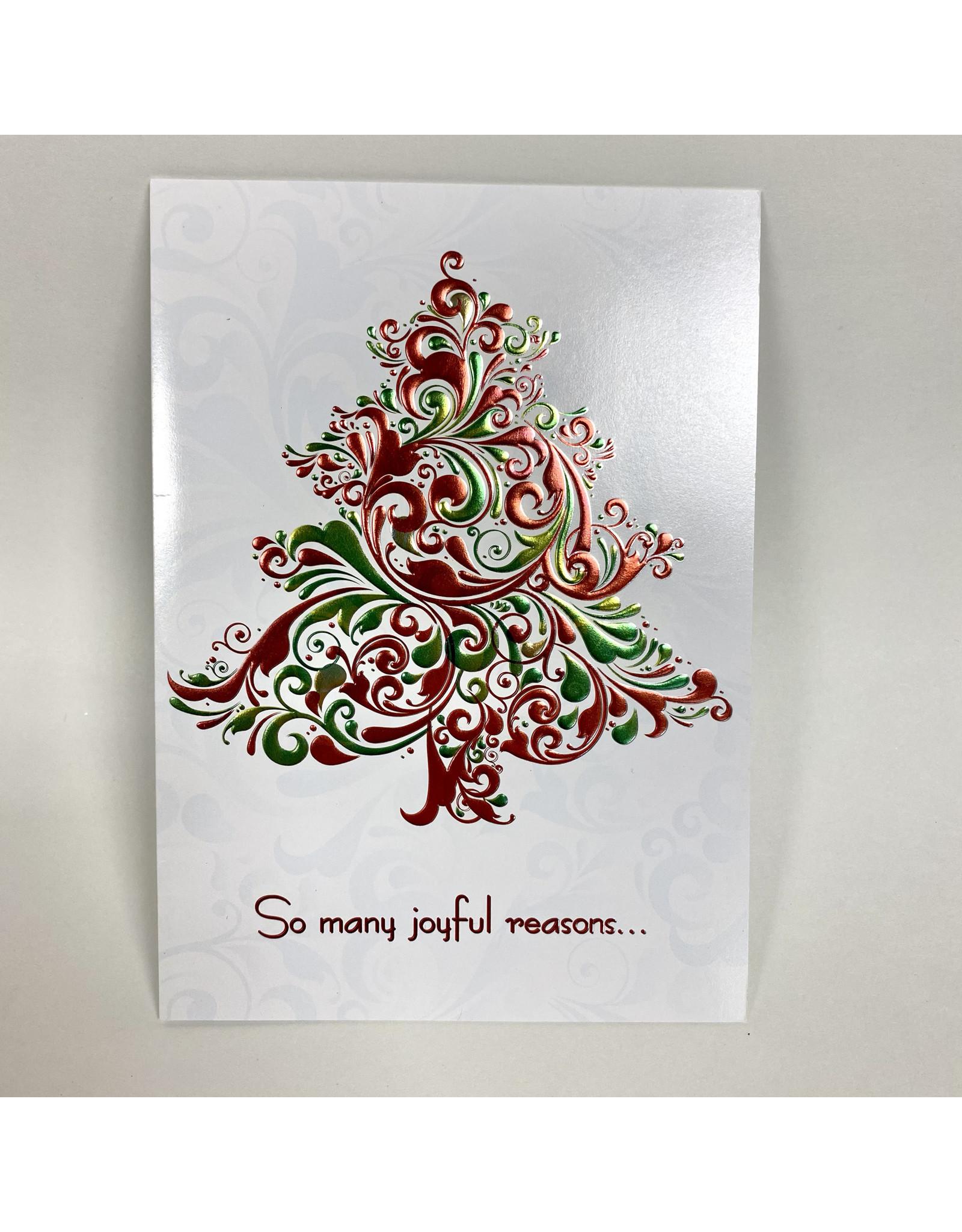 Design Design Greeting Card - joyful reasons for the season