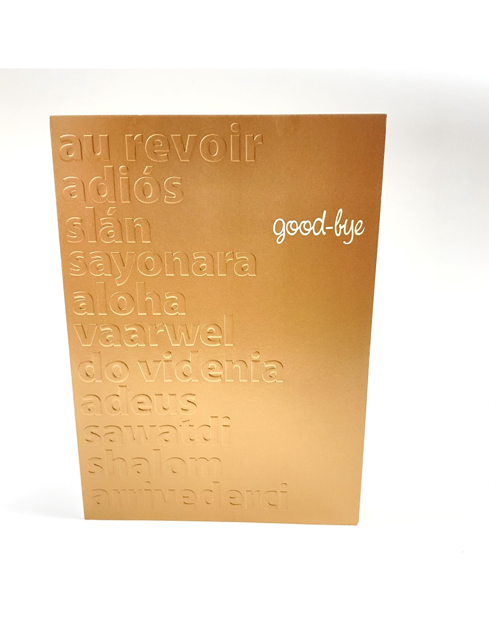 Design Design Greeting Card - Good Bye