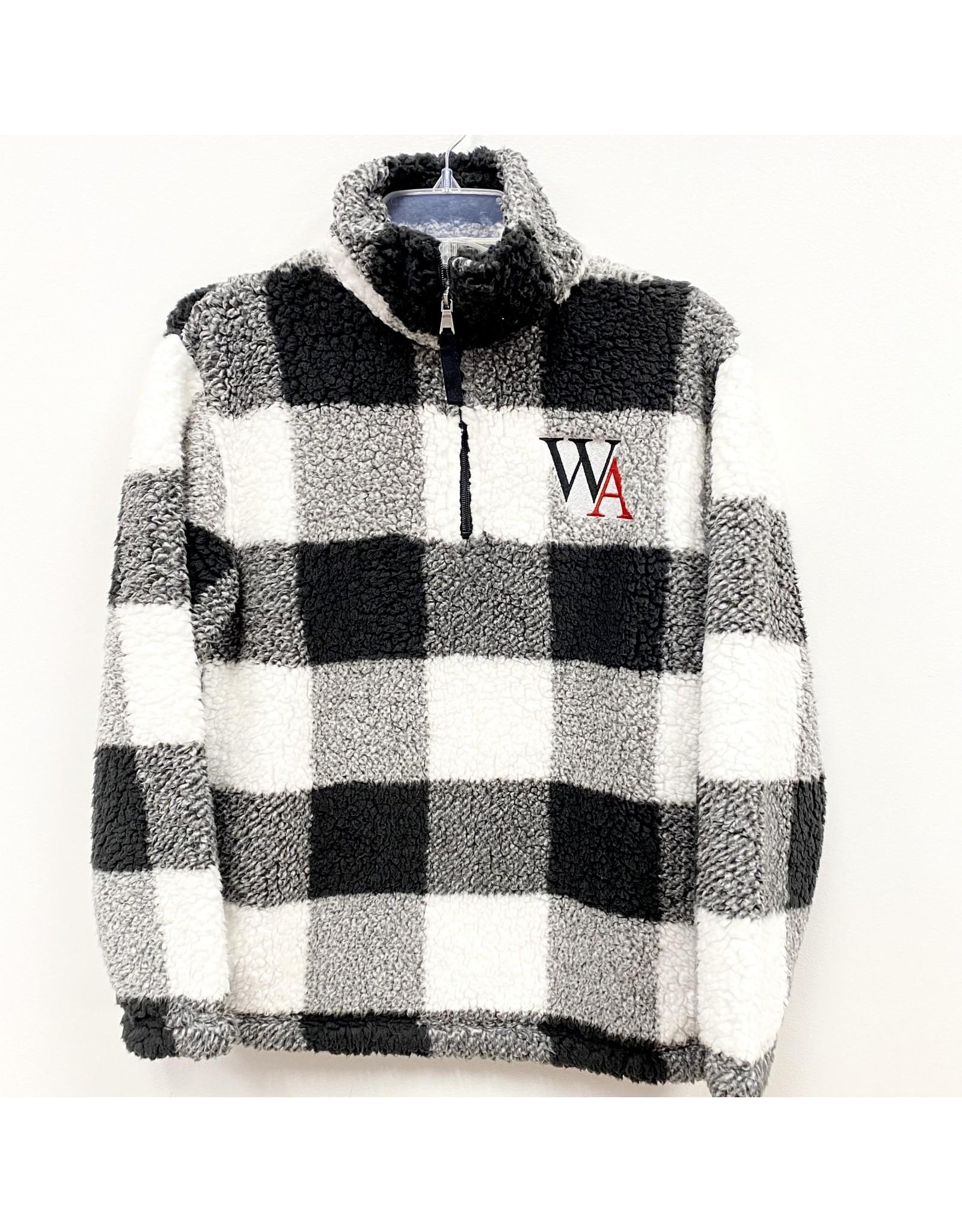 Boxercraft Sherpa 1/4 Zip Pullover in Black Check