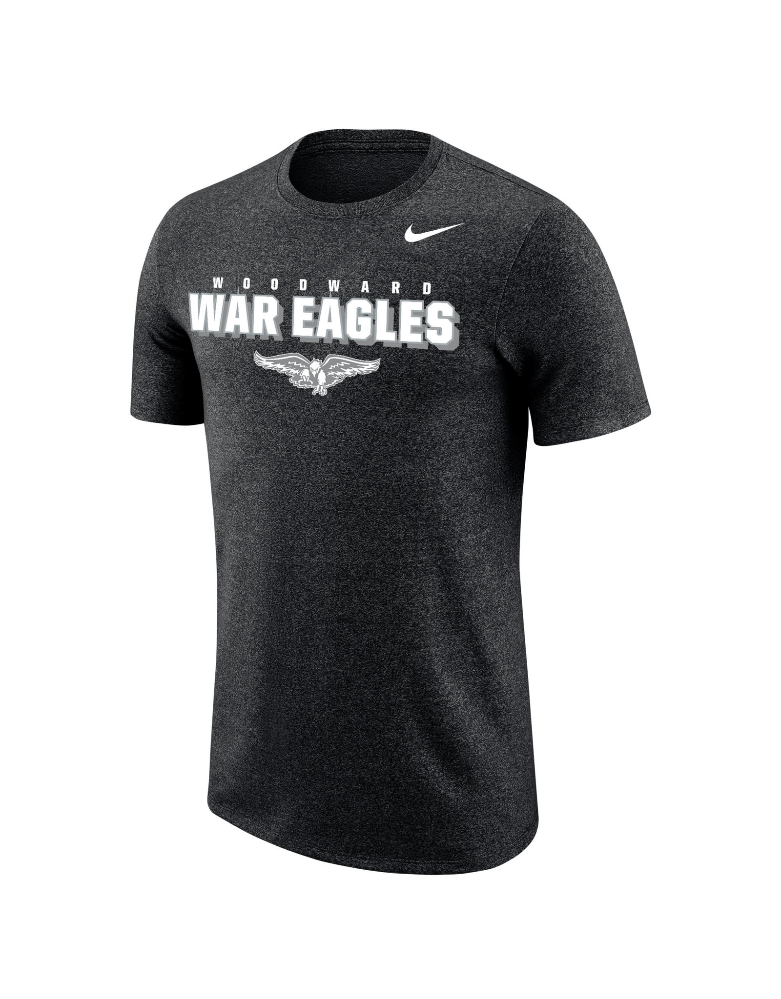 NIKE Marled SS T Shirt in Black Heather