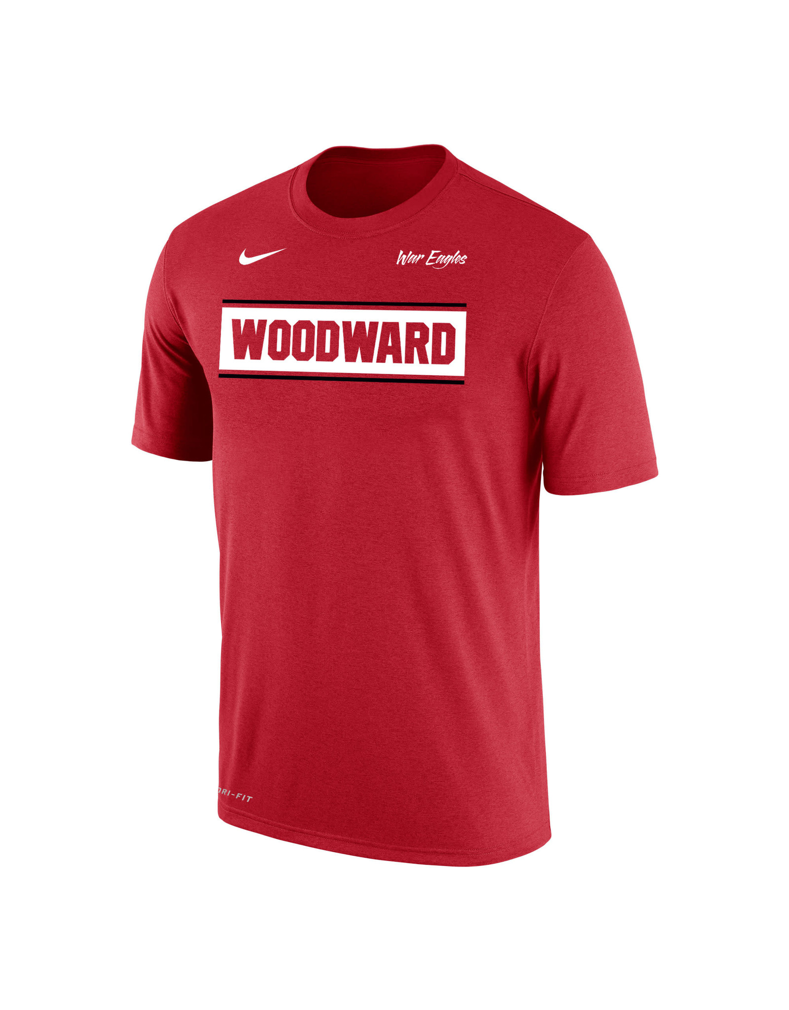 NIKE NIKE Dri-FIT Cotton SS Tee in Red