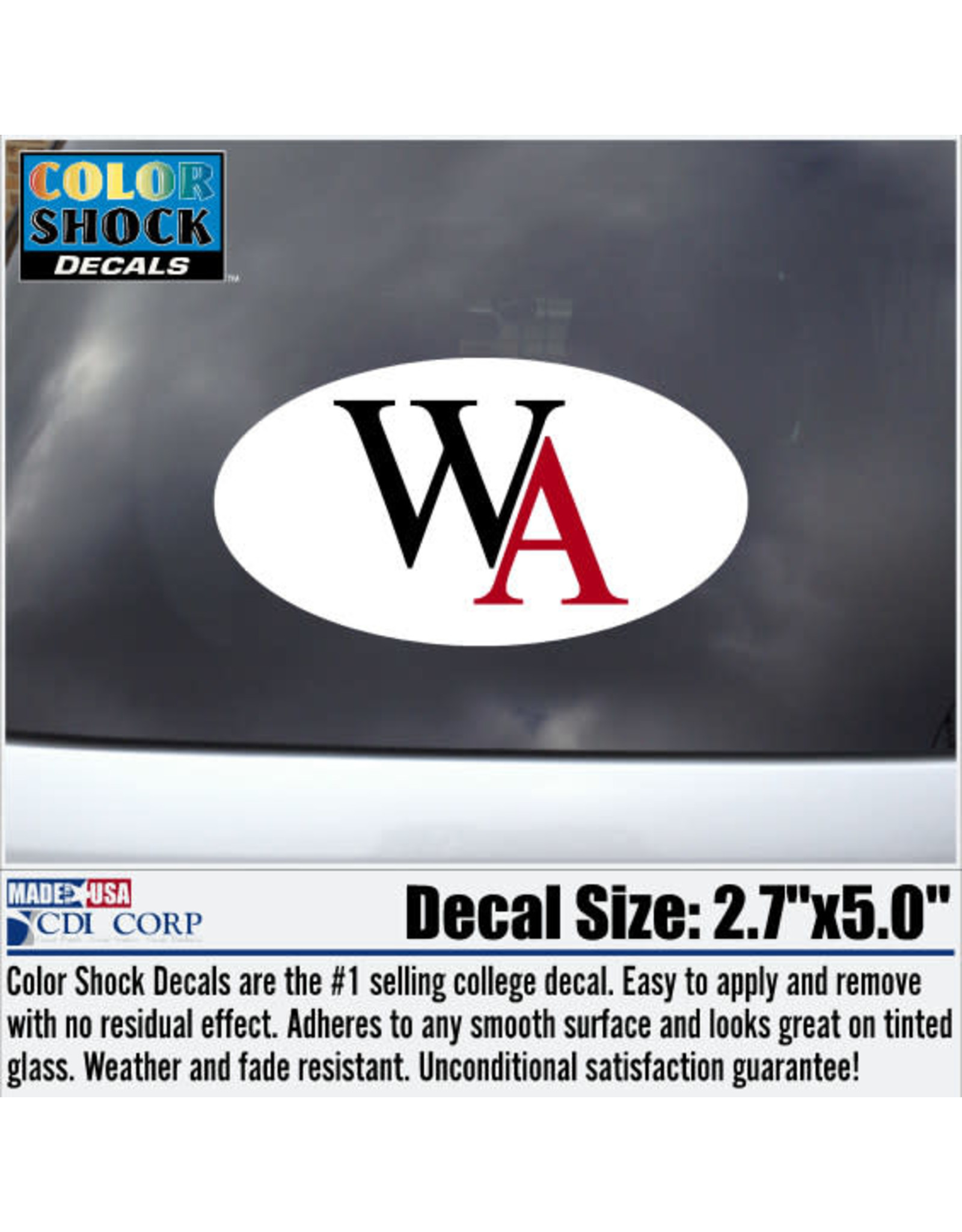 Color Shock Decal- WA Oval