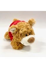 Mascot Factory PLUSH Light Brown Nicky Bear w/ Red Hoody