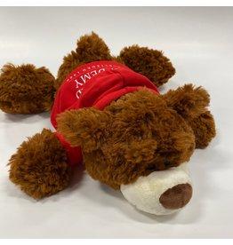 Mascot Factory PLUSH Dark Brown Ricky Bear w/ Red Hoody